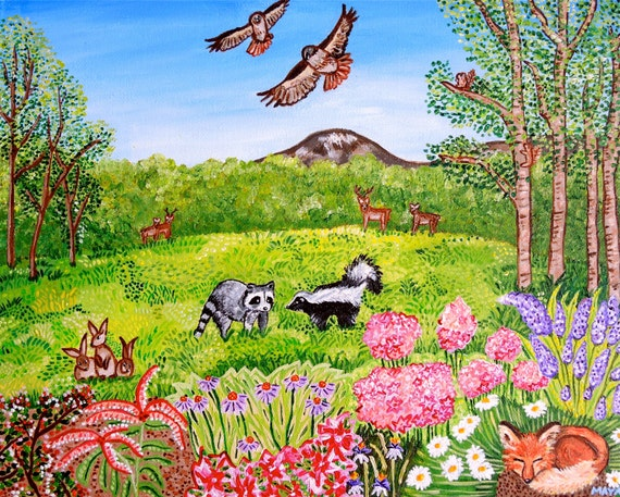 Items similar to custom landscape nature painting spring for Painting with nature items