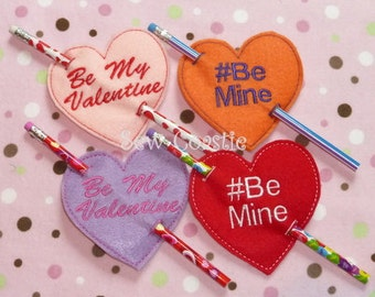 ITH Valentine's Day Pencil Holders machine embroidery design