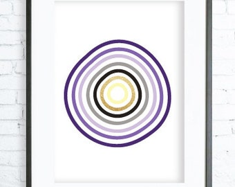 Purple Circles, Instant Download Printable, Purple Circles Pattern, Circle Art Print, Poster, digital art, Print,yellow art, purple poster
