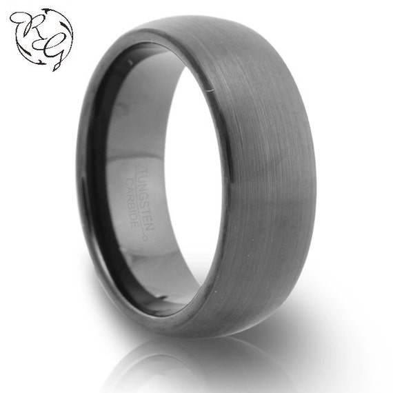 Tungsten Wedding BandTungsten Wedding RingBrushed by CemCemDesignz