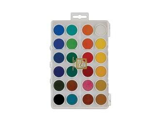 24 Watercolor Cakes, Loew Cornell Watercolour Palette, Watercolor Paint, Painting Supplies