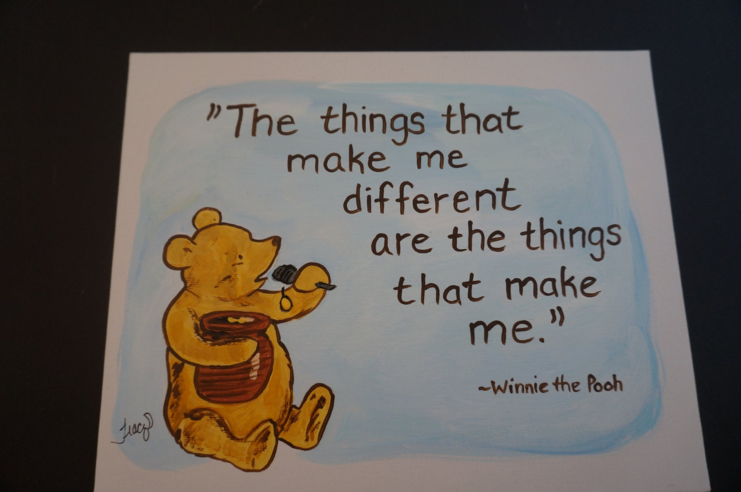 Classic Winnie The Pooh With A Jar Of Honey Quote The Things