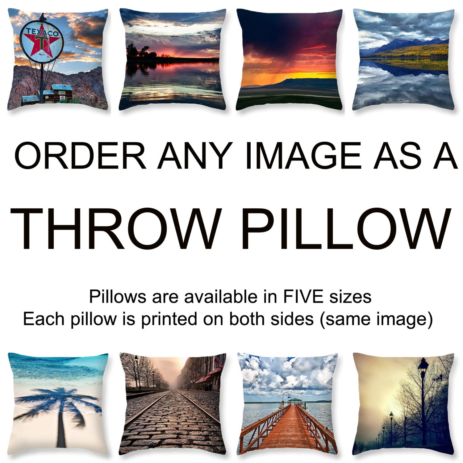 Square Throw Pillow Sizes : Throw Pillow Custom Order Accent Pillow 5 Sizes Square
