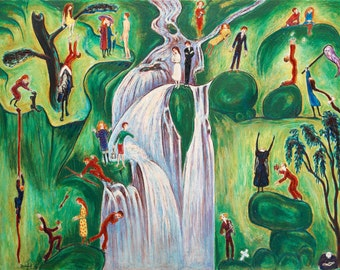 The Waterfall by Nils Von Dardel
