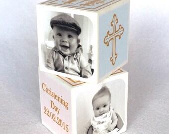 Personalised Christening Block / Christening Gift / Boy or Girl