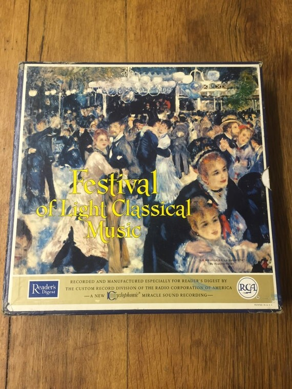 Festival of Light Classical Music 1960s RCA LP Record Box Set Readers Digest Rare Antique Record Set