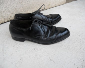 Vintage Men's Black Roblee Dress Shoes 13 D FREE SHIPPING