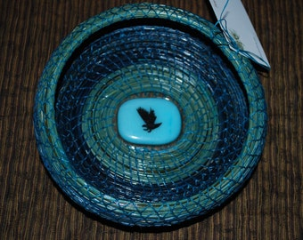 "Pine Needle Basket ""Screaming Eagle"""