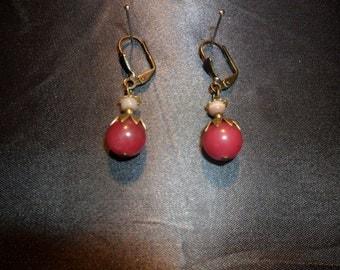 jade and cat's eye earrings