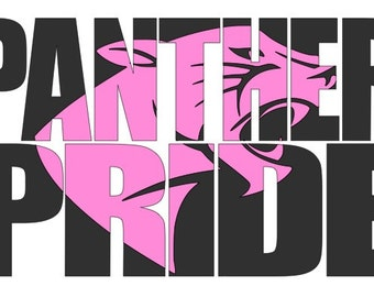 Panther Pride text knockout SVG cutting file with separate panther head for personal use