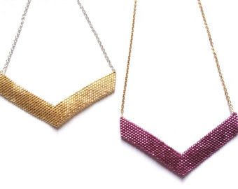 Victory gold necklace - choice of colors!