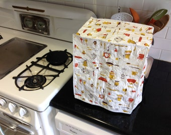 Vintage Quilted Small Appliance Cover Vinyl