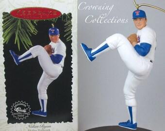 1996 Hallmark Nolan Ryan Keepsake Ornament Texas Rangers MLB Baseball At the Ballpark Series