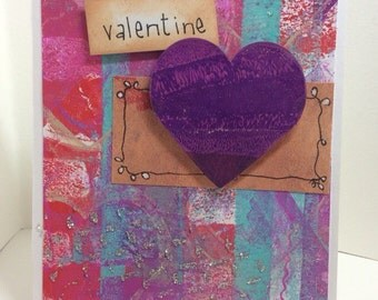 Painted heart Valentine card