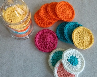Cotton Facial Scrubbies, Set of 5