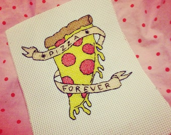 Pizza Forever Cross Stitch