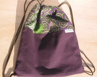 Marble Bag, Childrens Bag, Purple Bag, Drawstring Bag