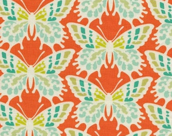 SALE**Orange with Aqua Butterflies from Heather Bailey's Free Spirit Collection