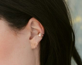 Double Strand with CZ Ear Cuff