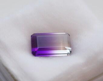 10.99 Carat Bi-Color Amethyst Loose Gemstone from Brazil
