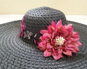 Womens Flower Hat