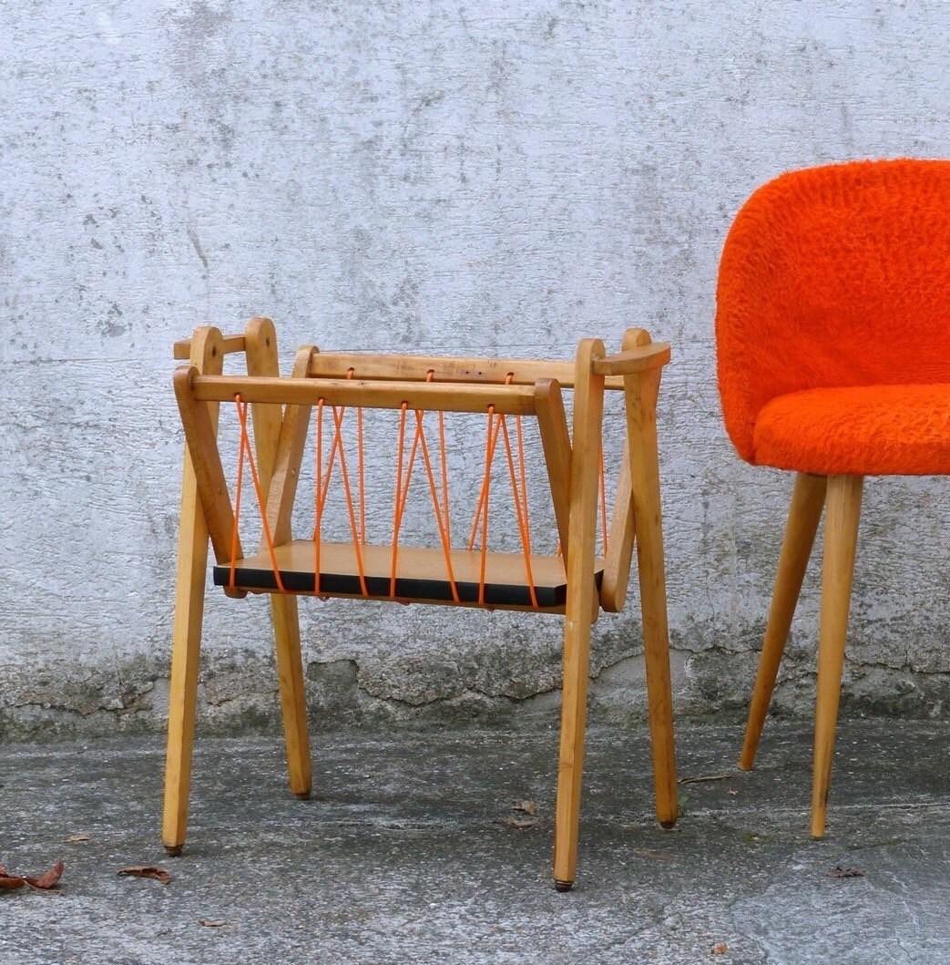 porte revue scoubidou vintage magazine rack. Black Bedroom Furniture Sets. Home Design Ideas