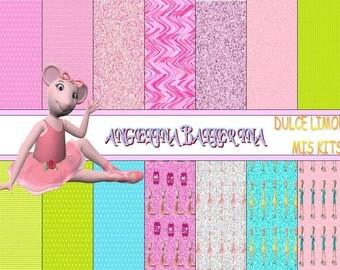 more clipart digital papers kit angelina ballerina !!!