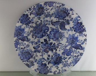 Blue Floral Decorative Plate