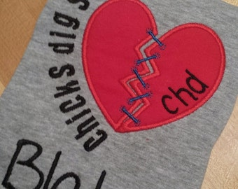CHD Chicks Dig Scars tee