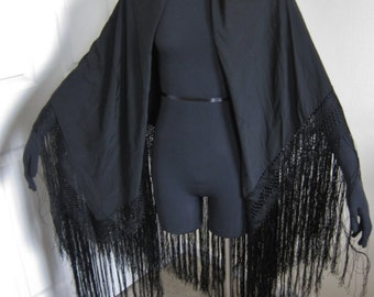 Black Mourning Piano Shawl Vintage Stevie Nicks