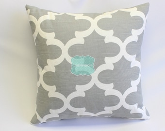 Pillow Cover - Premier Prints - FYNN - Ash Grey White Slub - Home Decor Sofa Throw Pillow-Cover with Zipper Enclosure - All Sizes