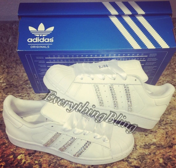 Adidas Blanche Avec Dentelle