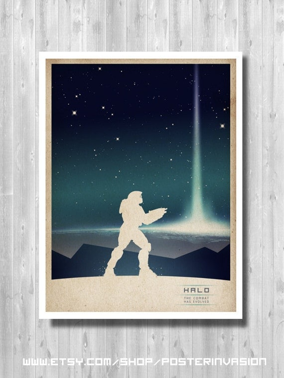 Master Chief poster, Halo Poster, video game poster, Halo