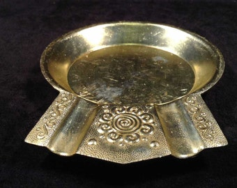 Vintage Portable ashtray,  Metal ashtray, Travel ashtray, Bar decor, Pub decor, Mini ashtray, Gift for him