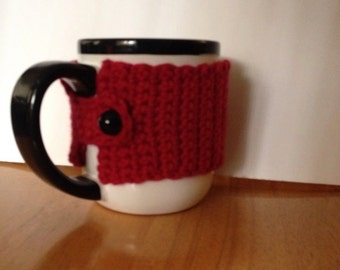 Beautiful Coffee mug holder in red - perfect for our morning breakfast hot coffee mug