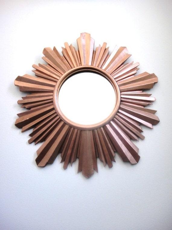 Reserved lydia miroir soleil cuivr brillant ran ais for Miroir soleil cuivre