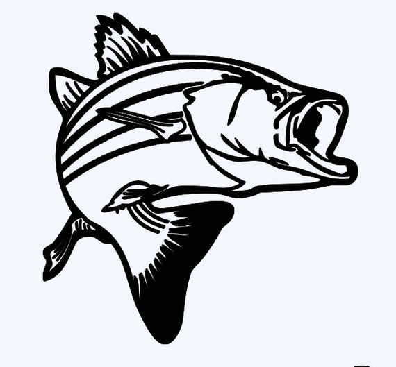 Jumping Bass Fish Window Decal Free By Personalizedbypenny On Etsy