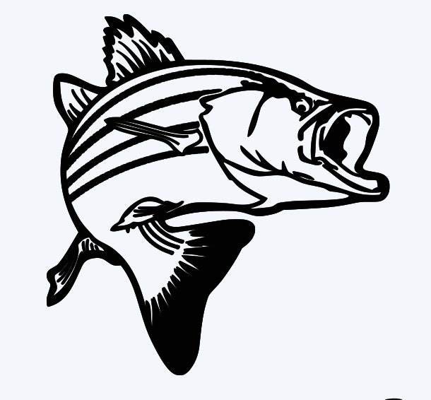 Jumping bass fish window decal free by personalizedbypenny for Free fishing decals