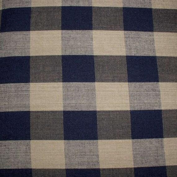 Black Buffalo Check Homespun Fabric Quilting Sewing Primitive