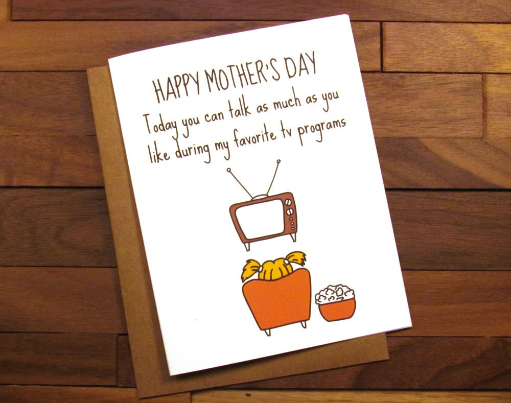 Funny Mothers Day Card Happy Mothers Day Funny – Mom Birthday Cards Funny