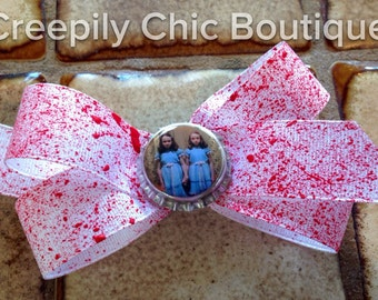 The Shining Twins Blood Splatter Hair Bow