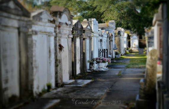 NEW ORLEANS CEMETERY Photograph ~ Lafayette Cemetery #1 ~ Tombs ~ Garden District ~ New Orleans, Louisiana