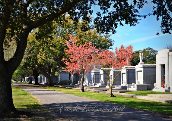 NEW ORLEANS CEMETERY ~ New Orleans, Louisiana ~ Above Ground Tombs ~ Louisiana Photography ~