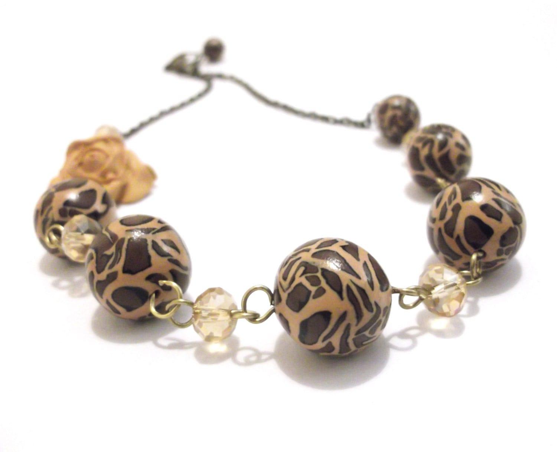 sale leopard print necklace necklace brown necklace