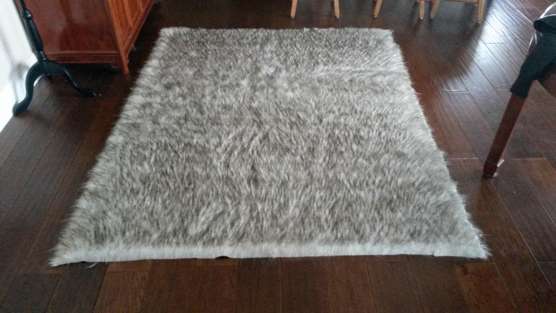 large faux fur area rug