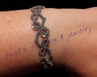 Needle Tatted Infinity Bracelet