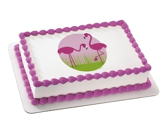 Edible Image Pink Flamingo