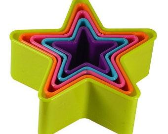 Multi Color Star Cookie Cutter Set