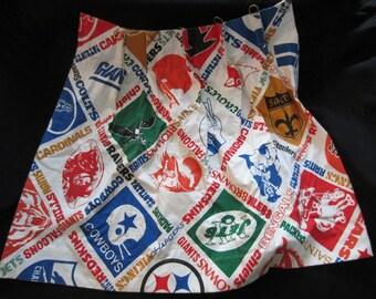Vintage 1970s Sears NFL curtain panels
