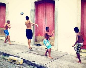 Brazil Photography, Large Wall Art, Brazilian Decoration for Kids Room, Soccer Photograph